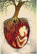 Sacred Digital Art Originals - Roots Of Mother Nature by Paulo Zerbato
