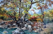 Texas Painting Originals - Roots by Robert W Cook nws