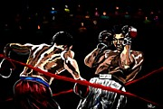 Knockout Paintings - Rope a Dope by Herbert Renard