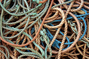 Coiled Prints - Rope Background Print by Carlos Caetano