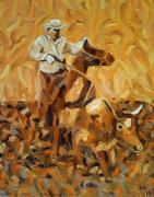 Steer Paintings - Roper II by Lowell Smith