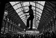 Jugglers Photos - Ropewalker in Covent Garden by Aldo Cervato