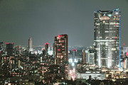 Illuminated Tapestries Textiles - Roppongi From Tokyo Tower by Spiraldelight