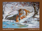 The Tiger Paintings - Roque and the Icy Pond by Silvia  Duran