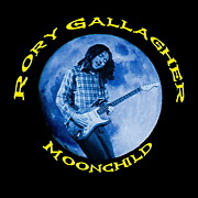 Concert Digital Art - Rory Gallagher BlueMoonChild 2 by Ben Upham