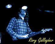 Concert Digital Art - Rory Gallagher Irish Blues Rock by Ben Upham