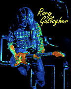 Concert Digital Art - Rory Gallagher on His Guitar by Ben Upham
