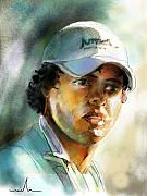 Portraits Mixed Media - Rory McilRoy by Miki De Goodaboom
