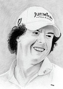 Us Open Drawings Prints - Rory McIlroy Print by Pat Moore