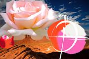 Rosa Desert Crucio Print by Geronimo