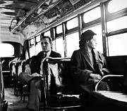 Civil Rights Art - Rosa Parks (1913-2005) by Granger