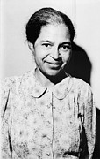 Naacp Framed Prints - Rosa Parks Was A Member Of The Naacp Framed Print by Everett