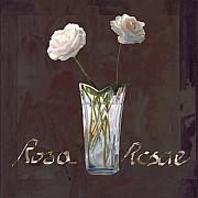 Vase Painting Metal Prints - Rosa Rosae Metal Print by Guido Borelli