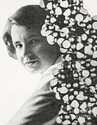 Notable Posters - Rosalind Franklin, English X-ray Poster by Photo Researchers