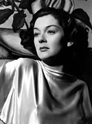 Draped Photos - Rosalind Russell In A 1935 Portrait by Everett