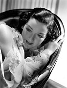 Hurrell Photo Posters - Rosalind Russell In A Hurrell Portrait Poster by Everett