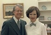 White House Framed Prints - Rosalynn Carter And Jimmy Carter Framed Print by Everett