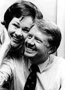 Rosalynn Carter And Jimmy Carter Watch Print by Everett