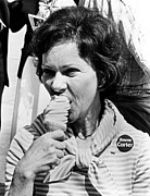 Future First Lady Posters - Rosalynn Carter Enjoys An Ice Cream Poster by Everett