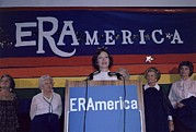 Betty Ford Photos - Rosalynn Carter Speaking In Support by Everett