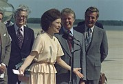 Rosalynn Framed Prints - Rosalynn Carter Speaks Upon Her Return Framed Print by Everett