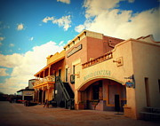 Shows Prints - Rosas Cantina in Old Tuscon AZ Print by Susanne Van Hulst