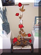Birds Sculpture Acrylic Prints - Rose 2 Acrylic Print by JP Giarde