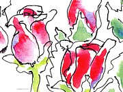Gordon Punt Prints - Rose-Abstract-Paintings-1 Print by Gordon Punt