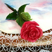 Rose And Lace Print by Joni McPherson