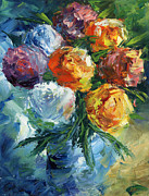 Amor Paintings - Rose Bouquet by Ash Hussein