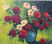 Lore Rossi Metal Prints - Rose Bowl  Metal Print by Lore Rossi