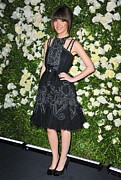 Halter Dress Framed Prints - Rose Byrne Wearing A Chanel Dress Framed Print by Everett