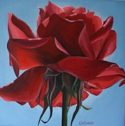 Christine Karron Metal Prints - Rose Metal Print by Christine Karron