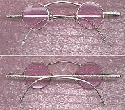 Sterling Silver Jewelry - Rose colored eyeglasses hand made sterling silver by Michelle  Robison