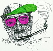 Art Brut Drawings - Rose Colored Glasses by Robert Wolverton Jr