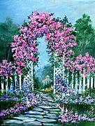 Picket Fence Originals - Rose-covered Trellis by Lois Mountz