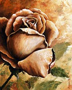 Still Life Mixed Media Framed Prints - Rose Framed Print by Emerico Imre Toth