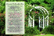 Encouragement Posters - Rose Garden Poster by Carolyn Marshall