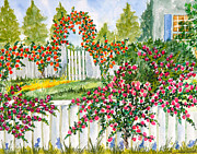 Arbor Paintings - Rose Garden by Kimberlee Weisker