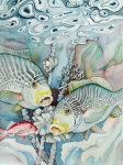 Reef Fish Originals - Rose Island III by Liduine Bekman