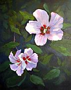 Althea Painting Metal Prints - Rose of Sharon Metal Print by Jimmie Trotter