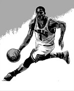 Basketball Digital Art - Rose Poster by Adam Barone
