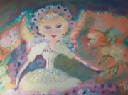 Tiara Paintings - Rose Queen by Judith Desrosiers