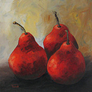 Pear Painting Acrylic Prints - Rose Red Pears Acrylic Print by Torrie Smiley
