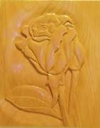 Floral Sculpture Prints - Rose Relief Print by Russell Ellingsworth