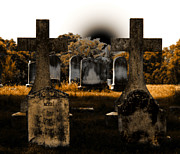 Head Stones Prints - Rose Print by Steven  Digman