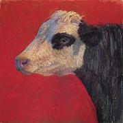 Farm Animals Pastels - Rose  by Susan Williamson