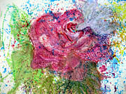  With Acrylics Mixed Media - Rose Visited by Sarah Hornsby