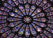 Art Product Framed Prints - Rose Window In The Notre Dame Cathedral Framed Print by Axiom Photographic