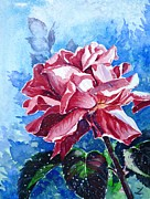 Most Popular Paintings - Rose by Zaira Dzhaubaeva